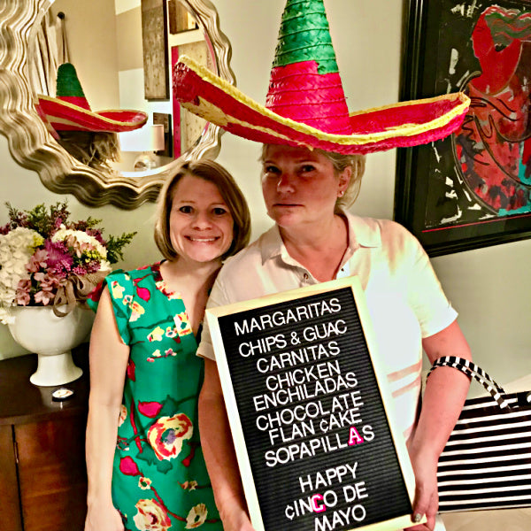 Make a dinner menu for your guests-fiesta idea from Birthday Butler