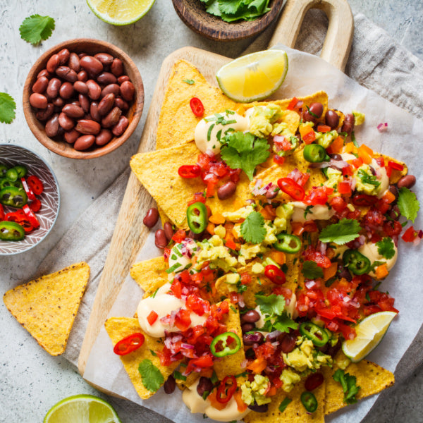 Serve nachos at your Mexican fiesta birthday party-idea from  Birthday Butler