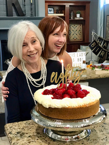 80th milestone birthday for her woman and daughter celebrating