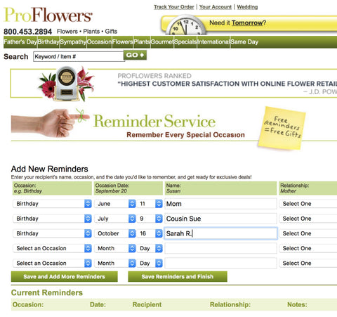 Proflowers Reminder Service Makes Celebrating 40th Birthdays Easy