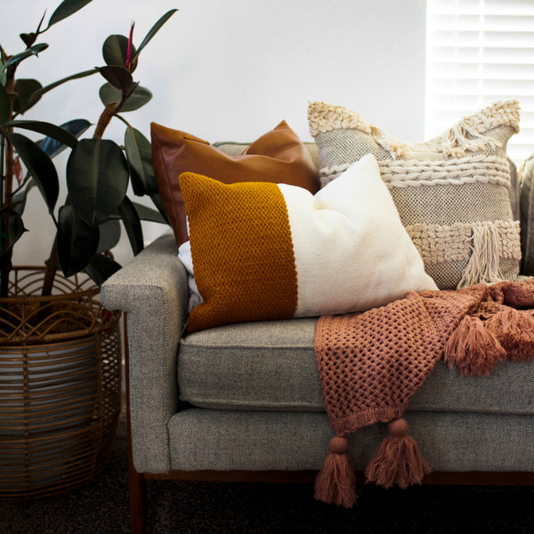 sofa with pillows help mom redecorate for her birthday gift