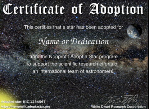 Cool 50th birthday idea adopt a star