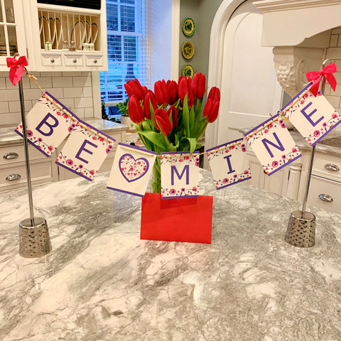 Valentine Day decor and flowers