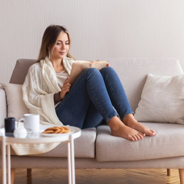 Woman relaxing for Goof Off Day