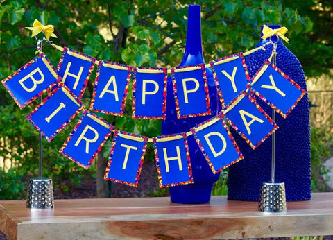 Blue Birthday Centerpiece for Party Table Looks Great in Pictures