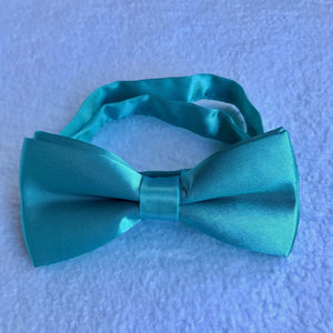 50th birthday idea for husband aqua blue bow tie