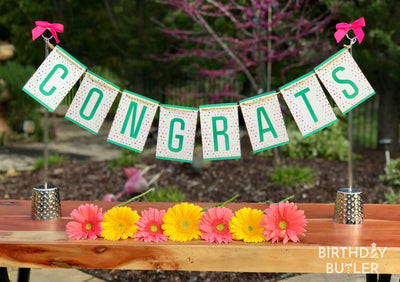 Congrats party banner decoration