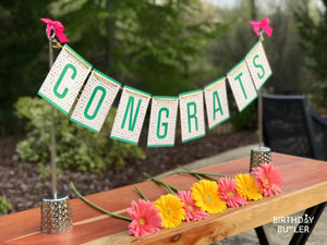 Congratulations table decoration for new home new job