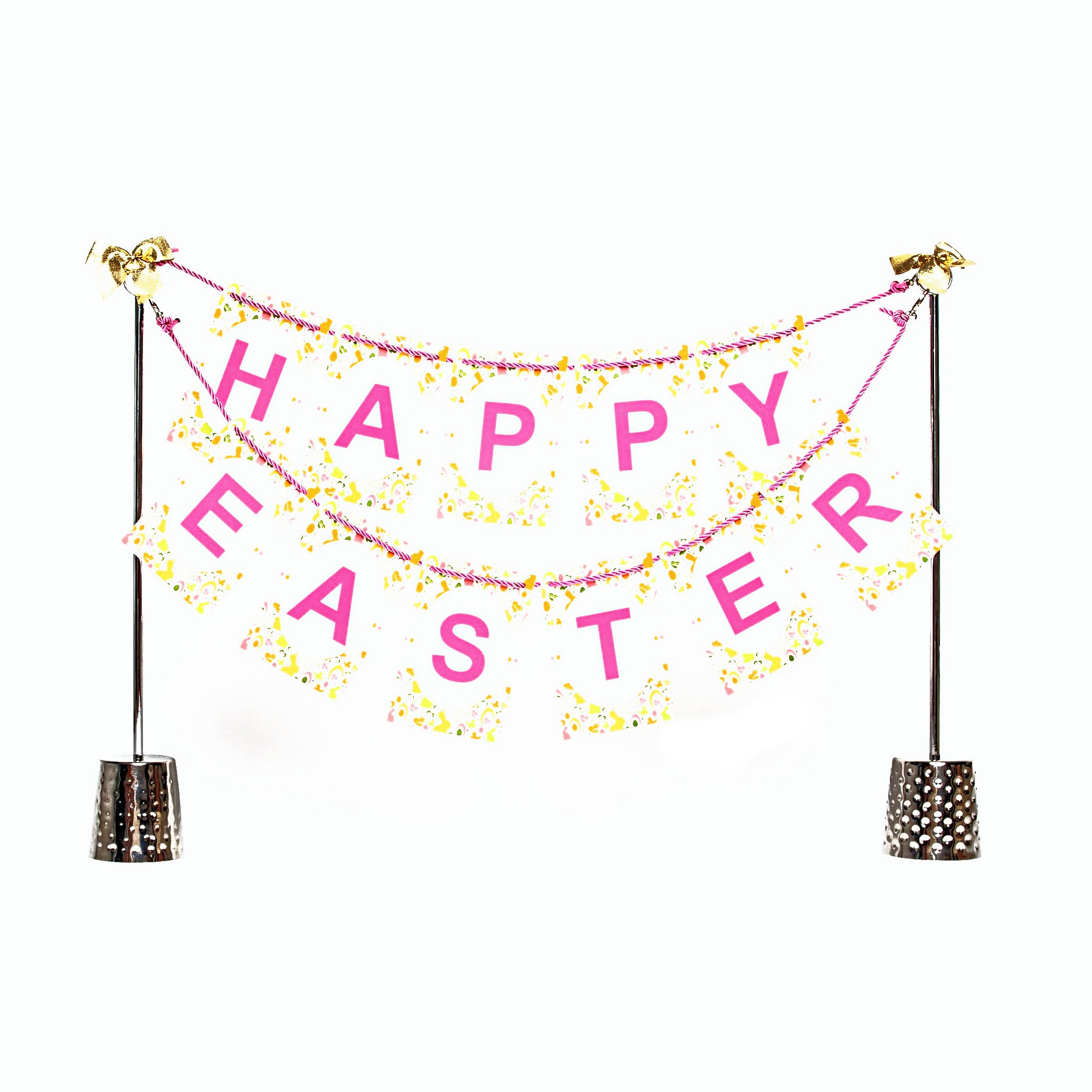 Happy Easter banner and Celebration Stand