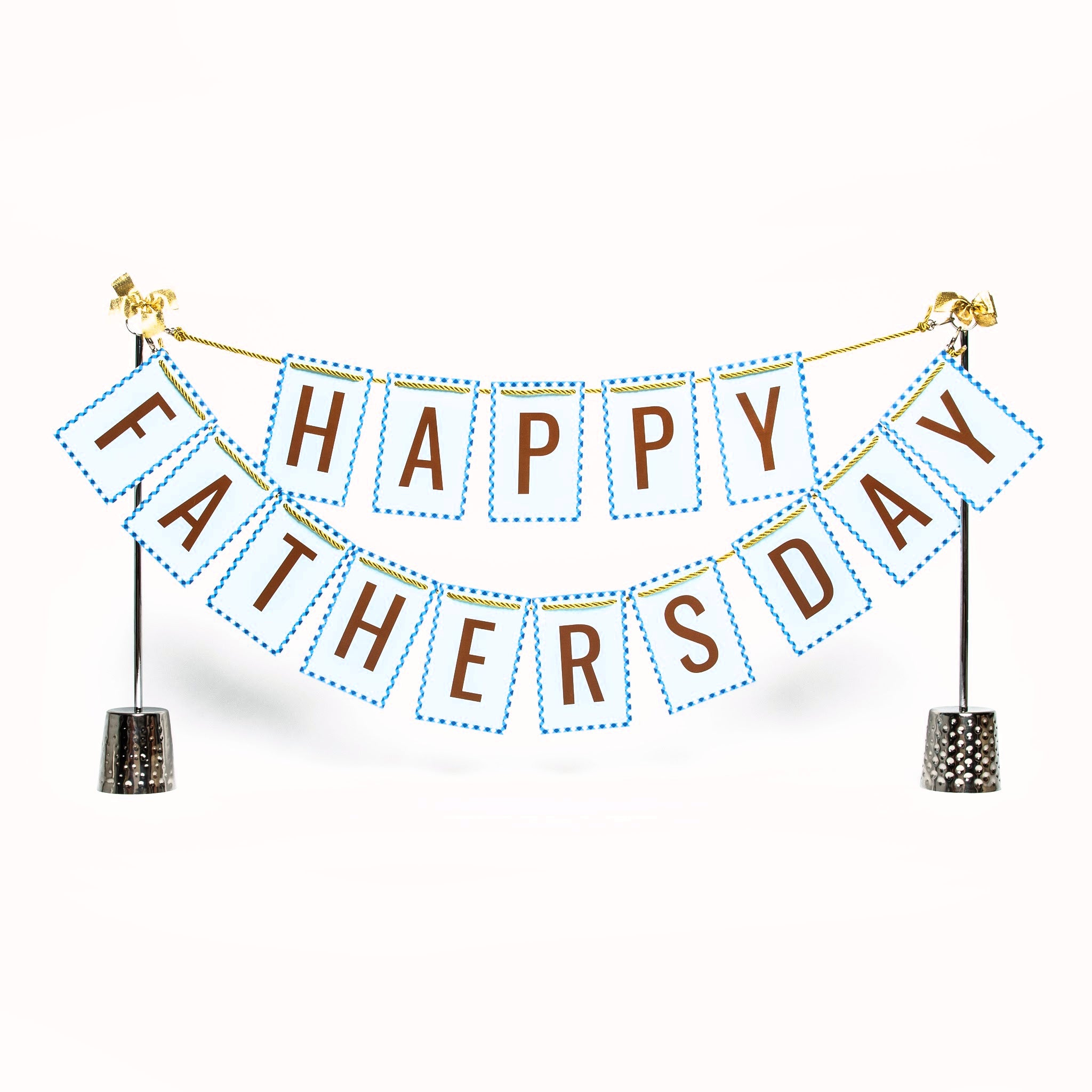 Happy Father's Day banner and Celebration Stand