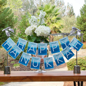 Hanukkah centerpiece for kitchen island