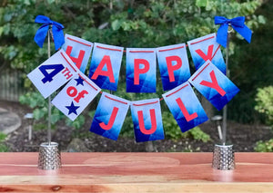 Happy 4th of July banner for Independence Day