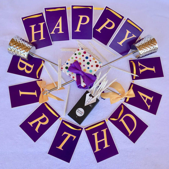 Los Angeles LA Lakers birthday party decorations purple gold