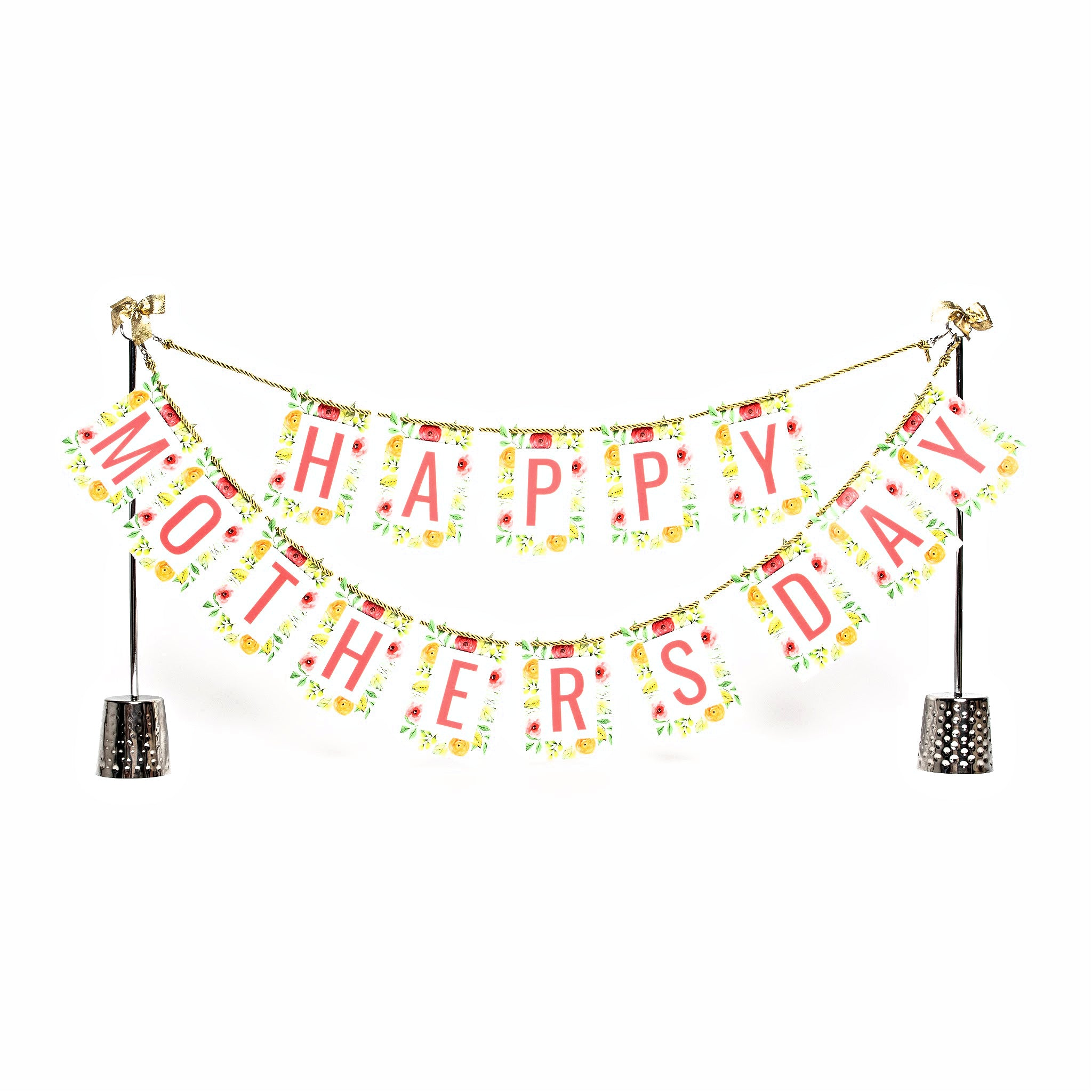 Happy Mother's Day banner and Celebration Stand