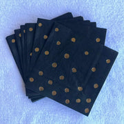 Black and gold party napkins for 50th birthday