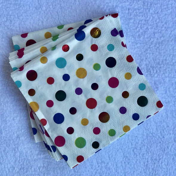 Birthday napkins for 50th birthday idea for husband or boyfriend