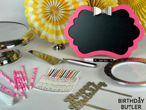 Pretty In Pink All-Inclusive Kit for Her Birthday Pink Yellow Colors