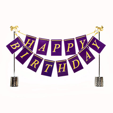 Purple and Gold Birthday Centerpiece