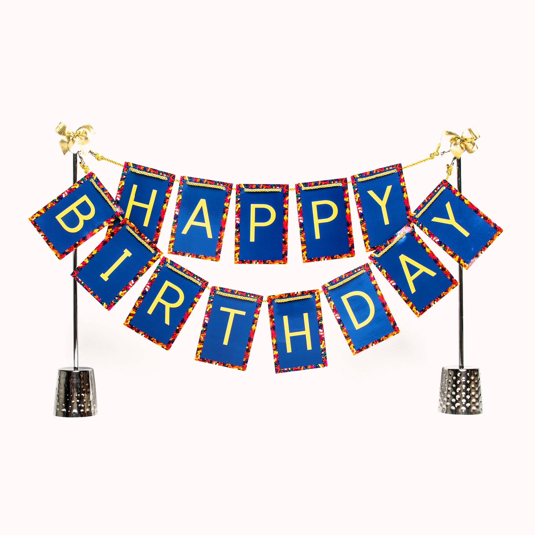 Happy Birthday banner and Celebration Stand