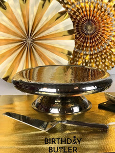 Contemporary Cake Stand included in Birthday in a Box Upscale Decorations