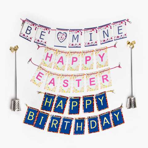 Celebration Stand and Valentines banner, Easter banner and birthday bamner