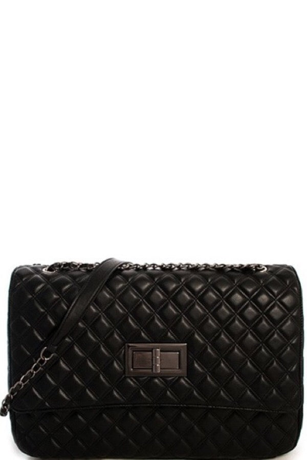 Jumbo Quilted Bag (Black)