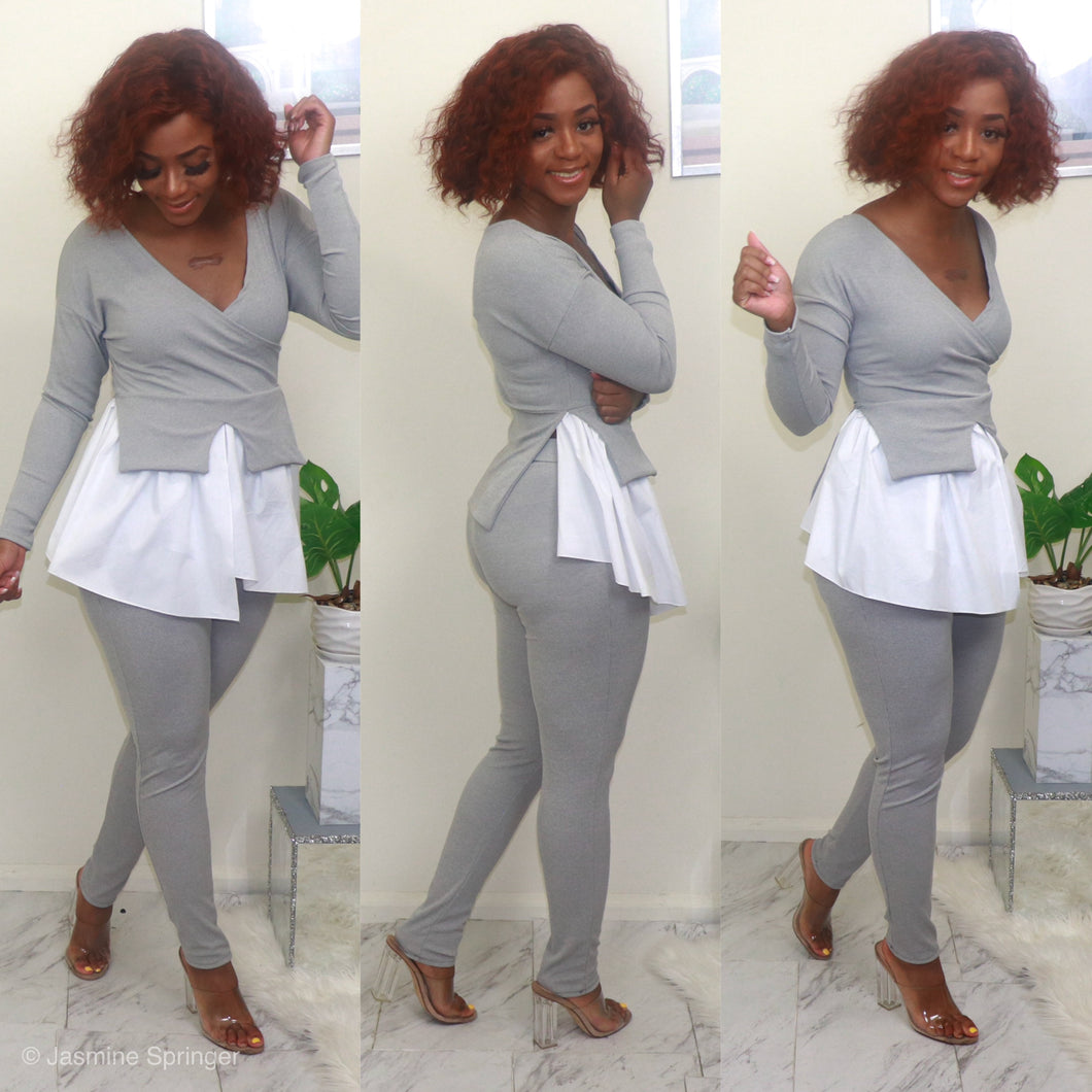 Work Pray Slay Pants Set