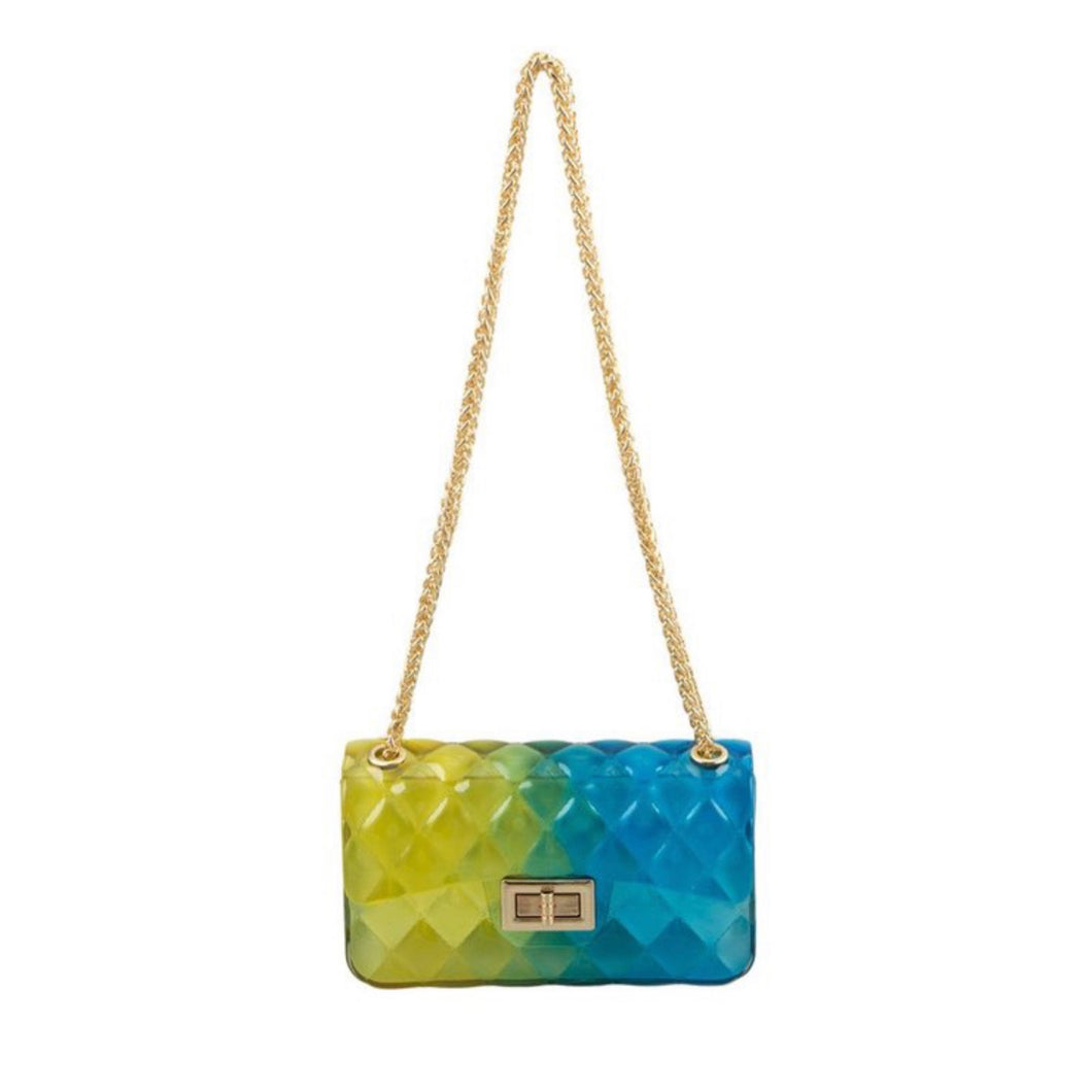 Jellybean Handbag (Blue and Yellow)