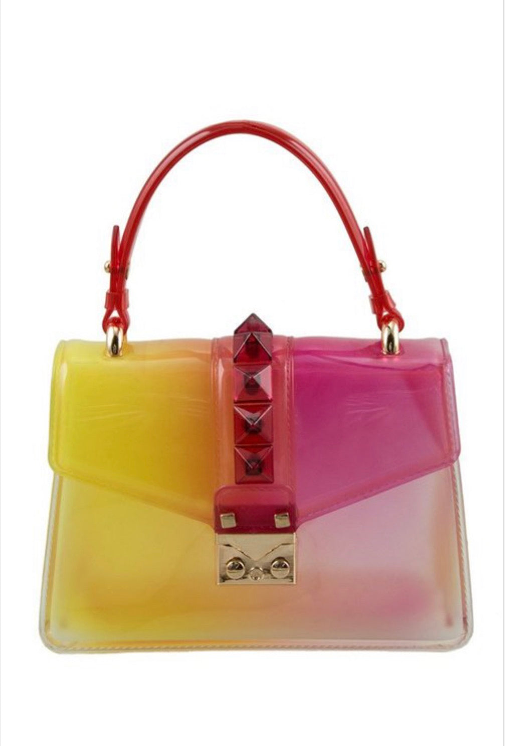 Jelly Bean Handbag (Pink and Yellow)