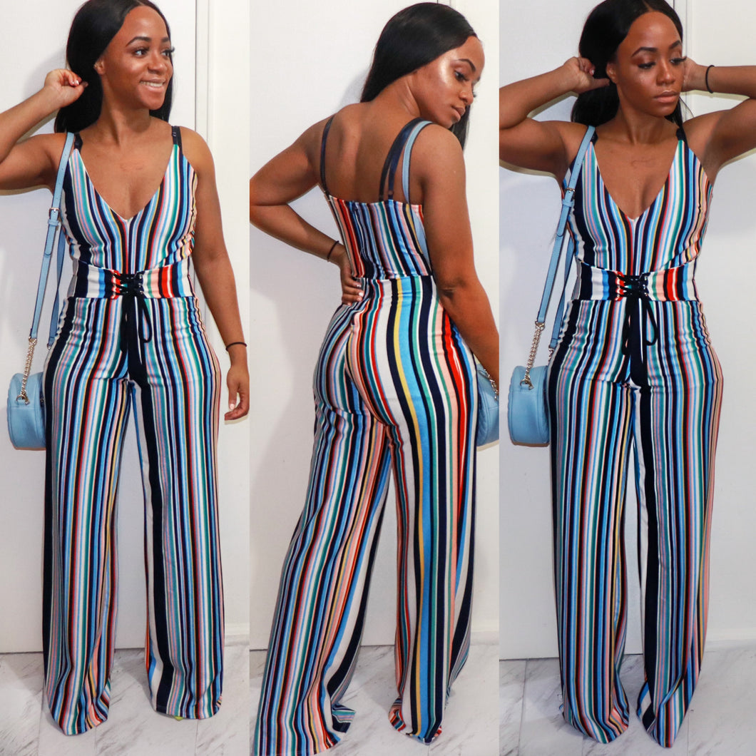 Spring Fling Stripe Jumpsuit