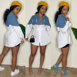 Denim Lovers Oversized Top