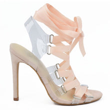 Strapped Satin Ribboned Sandal (Nude)