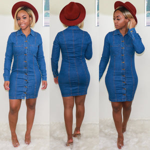 Pocket Denim Mini Dress