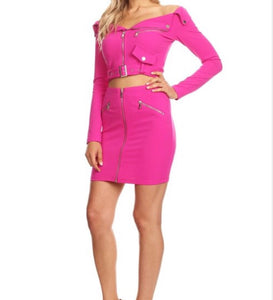 Bad Gal Barbie Skirt Set