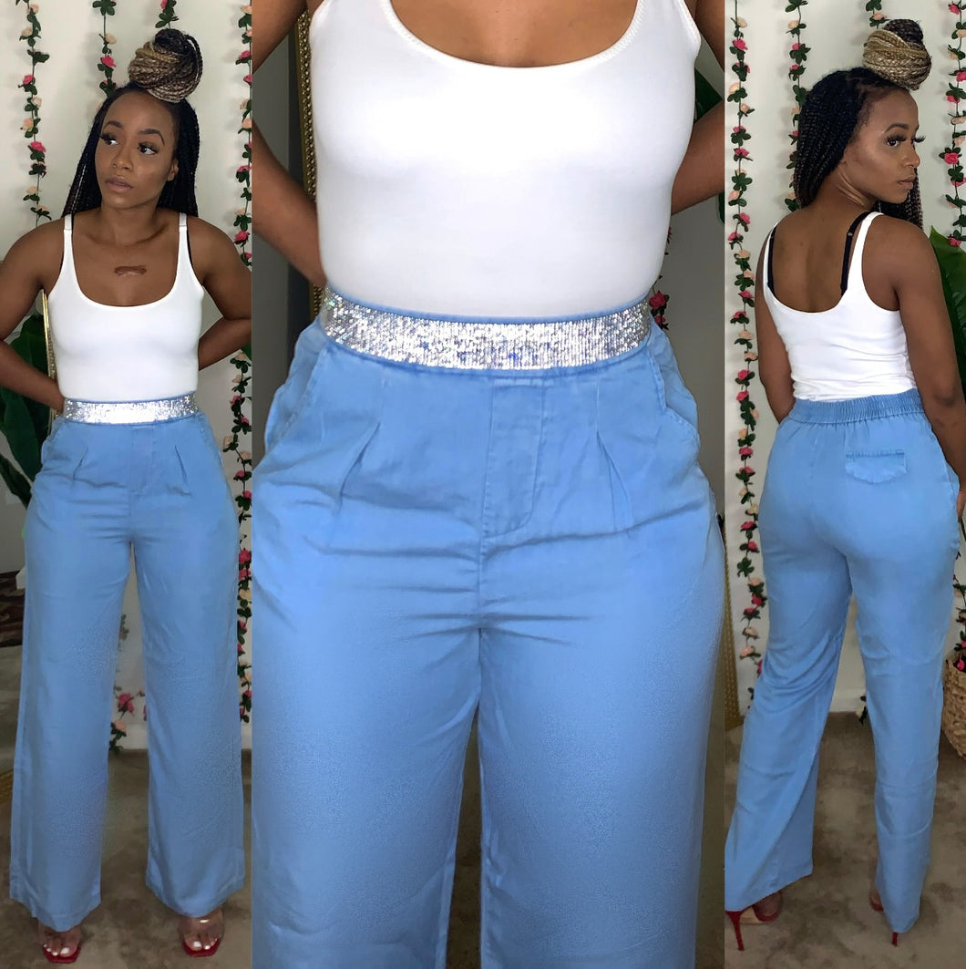 A Girls Bestfriend Denim Slacks