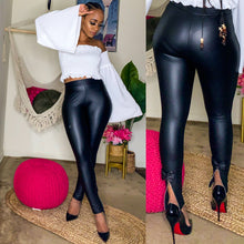Zippers and Bows Latex Leggings