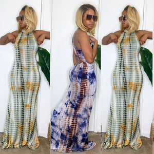 Peak-A-Boo Tie Dye Maxi Dress