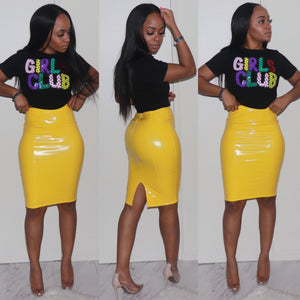 Liquid Lush Pencil Skirt