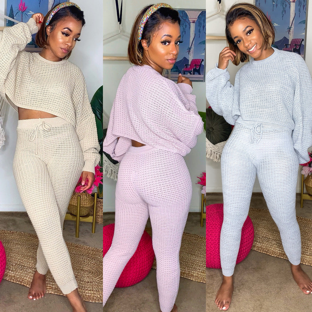 Let's Get Cozy Knit Set