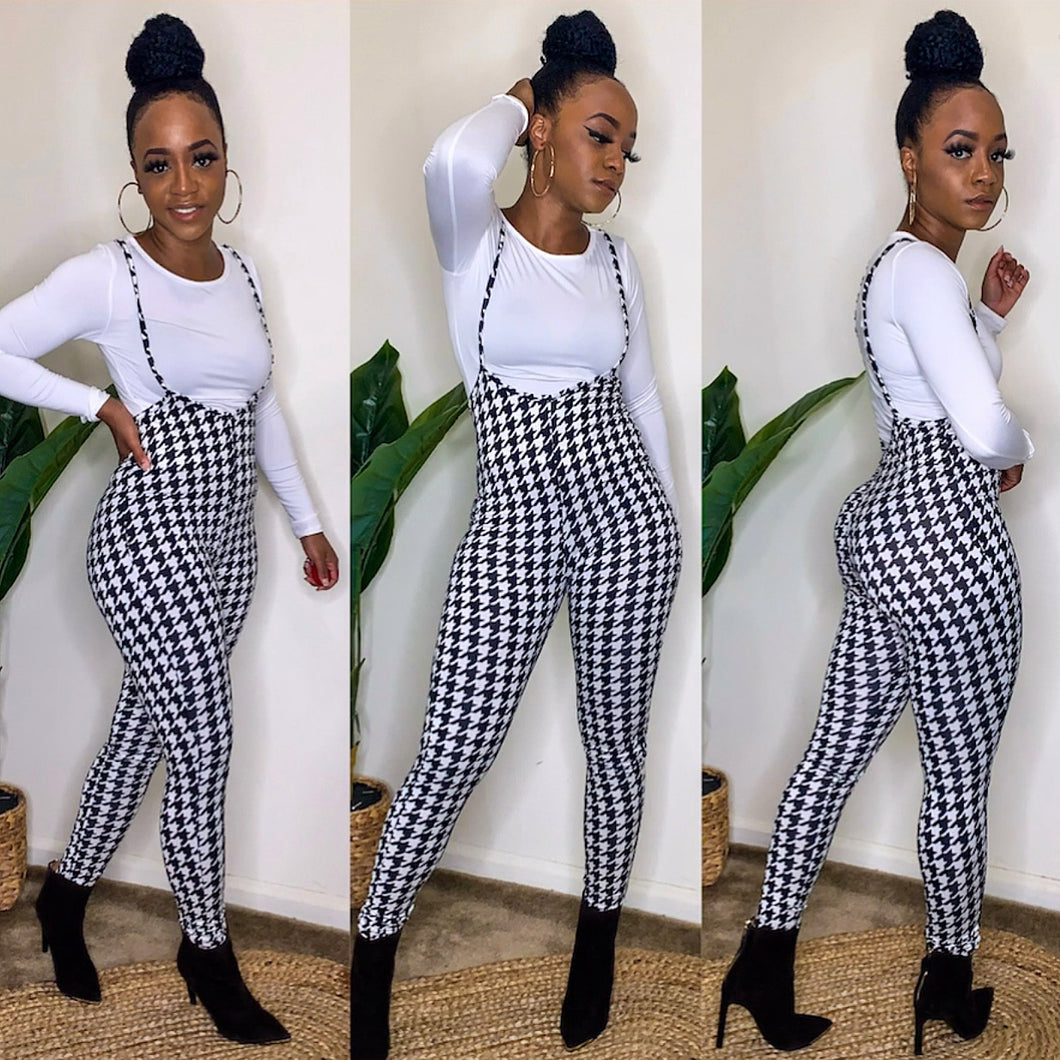 Houndstooth Jumpsuit Set