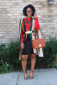 Falling for Fall Stripe Cape Blazer