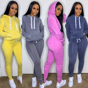 Work From Home Pullover Hoodie Set