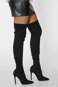 Austere Thigh High Boots (Black)