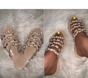Hawaii Pearl Studded Sandal