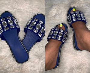 San Remo Diamond Studded Slides