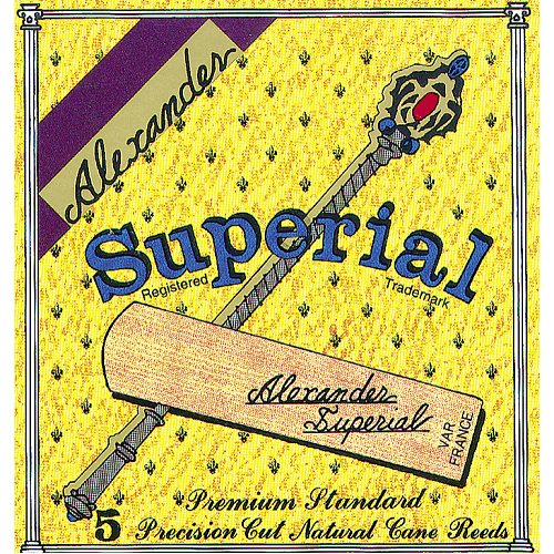 Alexander Original Superial Bb Clarinet Reeds Box of 5