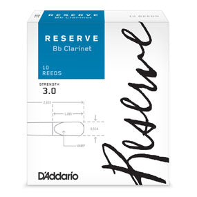 D'Addario Reserve Bb clarinet reeds Box of 10