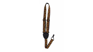On Stage Ukulele Strap Gold and Red Weave
