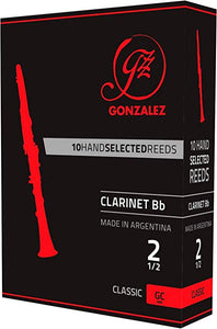 Gonzalez Reeds Classic Bb Clarinet Reeds Box of 10