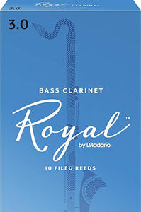 Rico Royal Bass Clarinet Reeds Box of 10